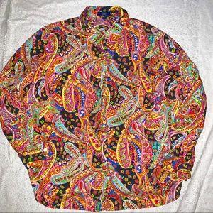 Chaps Ralph Lauren Paisley Print Blouse